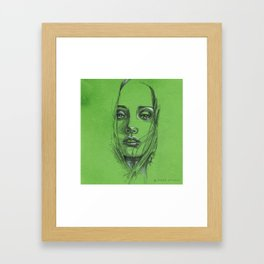 Study of a Girl 2 Framed Art Print