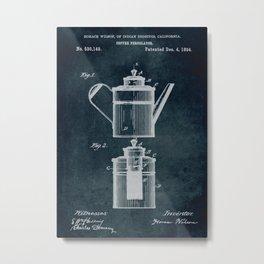 1894 - Coffee percolator patent art Metal Print