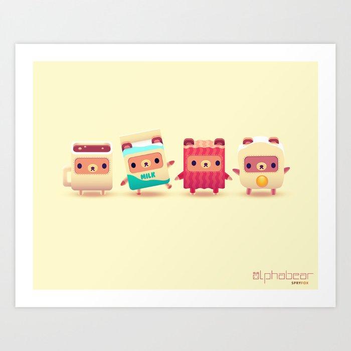 ALPHABEAR - Breakfast Bears Art Print