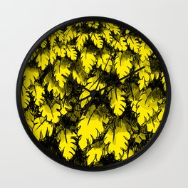 Taking a stroll in the jungle Wall Clock