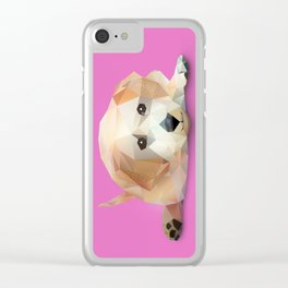 Low Poly Yellow Lab Clear iPhone Case