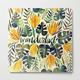 Tropical Wanderlust – Orange & Emerald Metal Print