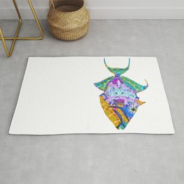 Tropical Trigger Fish - Colorful Beach Art - Sharon Cummings Rug