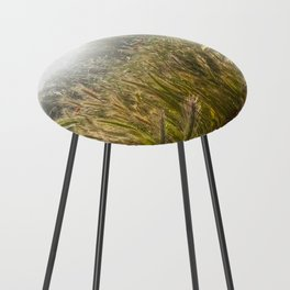 Wheat and poppies Counter Stool