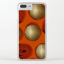 ORANGE RED GOLD Clear iPhone Case