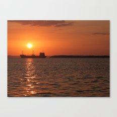 Sunset in Cuba Canvas Print