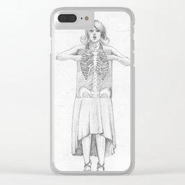 Exposure, pencil illustration Clear iPhone Case