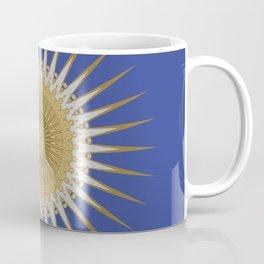 Bright Blue Gold Star Mandala Coffee Mug