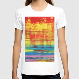 Sunny Sunset, Colorful Abstract Art T-shirt