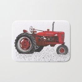Farmall Super M, International Harvester Tractor Drawing Bath Mat