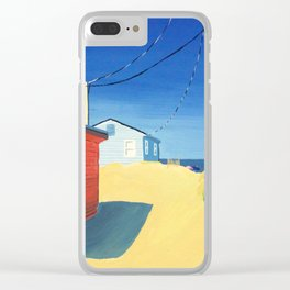 East Small Street Beach Access Clear iPhone Case