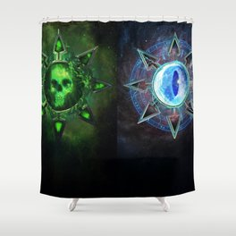 Chaos Icons - Banner Shower Curtain