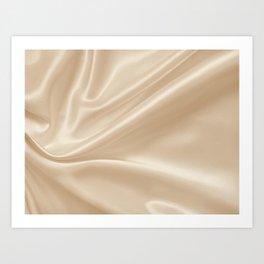 Gold Silk Art Print