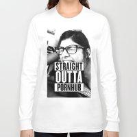wiz khalifa Long Sleeve T-shirts featuring Mia Khalifa straight outta pornhub by MartiniWithATwist
