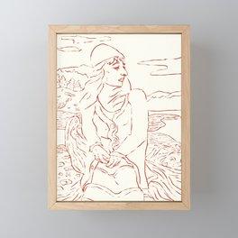 Longing Framed Mini Art Print