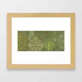 Quaker Motif Sampler Framed Art Print