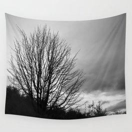 Deadly monochromatic tree Wall Tapestry