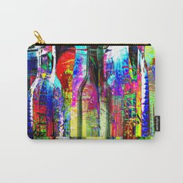 Colorful Glass Bottles Collage Carry-All Pouch