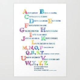 A, You're Adorable Art Print