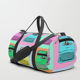 Let's warholize! Olivetti lettera22-style full of color Duffle Bag