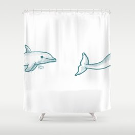 Dolphine Love Shower Curtain