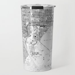 Vintage Map of Tampa Florida (1944) BW Travel Mug