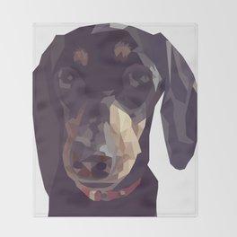 Geometric Sausage Dog Digitally Created Throw Blanket