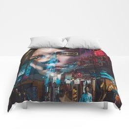 China America double exposure Comforters