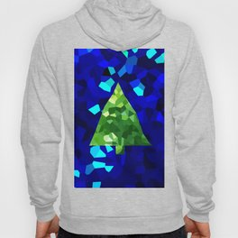 Modern Stained Glass Abstract Holiday Christmas Tree Hoody