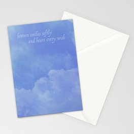 heaven smiles softly Stationery Cards