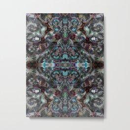 Moody Blue Begonia Metal Print