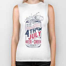 Typography Beer - Fourth of July Biker Tank