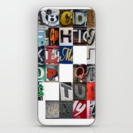 Northern A-Z iPhone Skin