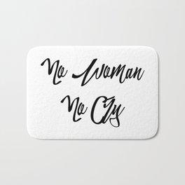 """No woman no cry"" pattern Bath Mat"