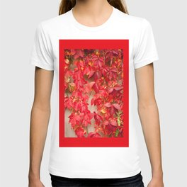 Vitaceae ivy wall abstract T-shirt