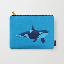 Geometric Killer Whale - Modern Animal Art Carry-All Pouch