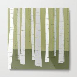 Quiet Birches Metal Print