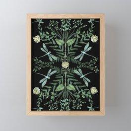 Dragonfly Foliage Framed Mini Art Print