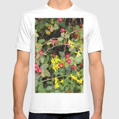 Flower and Berries Mens Fitted Tee MEDIUM White