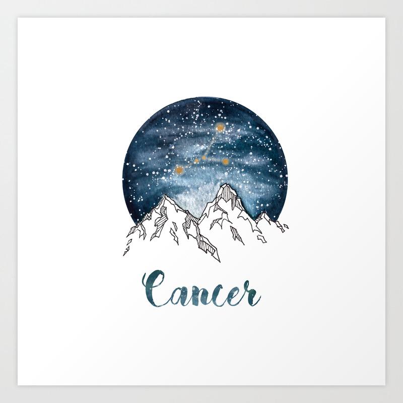 Original Watercolour Cancer