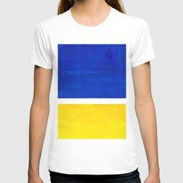 Colorful Bright Minimalist Rothko Blue Yellow Midcentury Modern Art Vintage Pop Art T-shirt