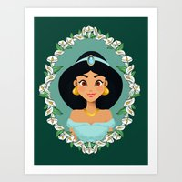 jasmine Art Prints featuring Jasmine by Joey Ellson