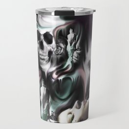 Sin and smoke, the art of a borderline.  Travel Mug