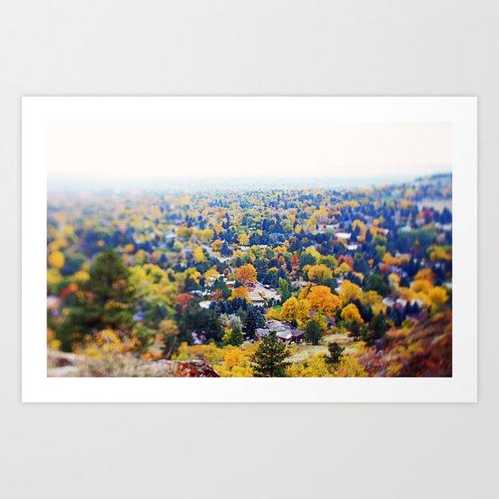 miles of trees Art Print