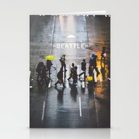 seattle Stationery Cards featuring Seattle by Bronson Snelling