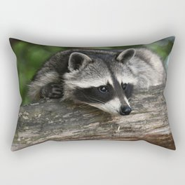 Very Cute Raccoon Rectangular Pillow