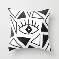 Evil Eye Triangles Throw Pillow