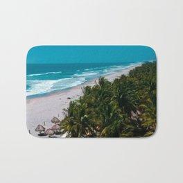 Waves and Palms Bath Mat