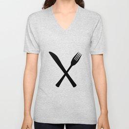 Knife And Fork Unisex V-Neck