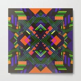 Techno Aztec II Metal Print